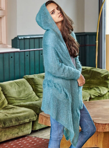 Женские кардиганы спицами: вяжем красивые и модные вещи своими руками vyazanyj spicami kardigan 9