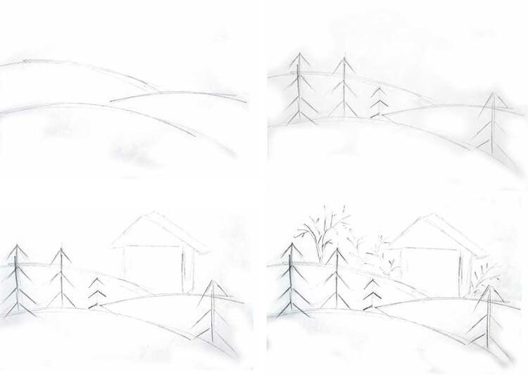 Рисунки на тему зима: что можно нарисовать красками и карандашом 88 91