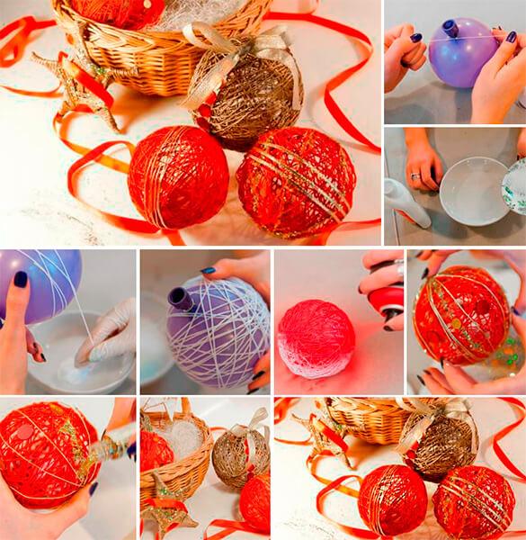 Елочные игрушки своими руками из подручных средств