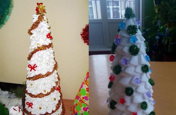 Поделки на Новый год из различных материалов: самое интересное с фото, с пошаговым описанием ng podelki 38
