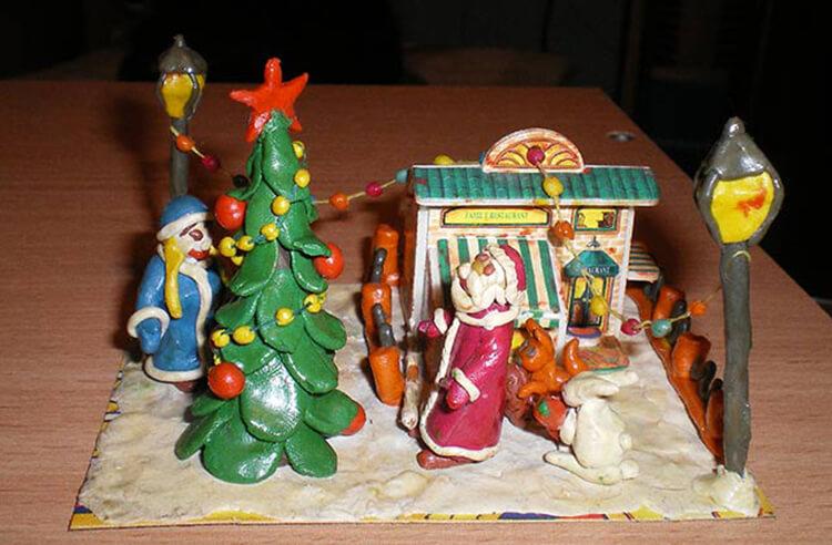 Поделки на Новый год из различных материалов: самое интересное с фото, с пошаговым описанием ng podelki 94