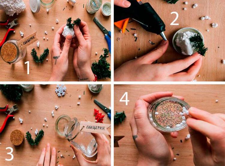 Поделки на Новый год своими руками: делаем на конкурс школу и садик podelki k novomu godu 11