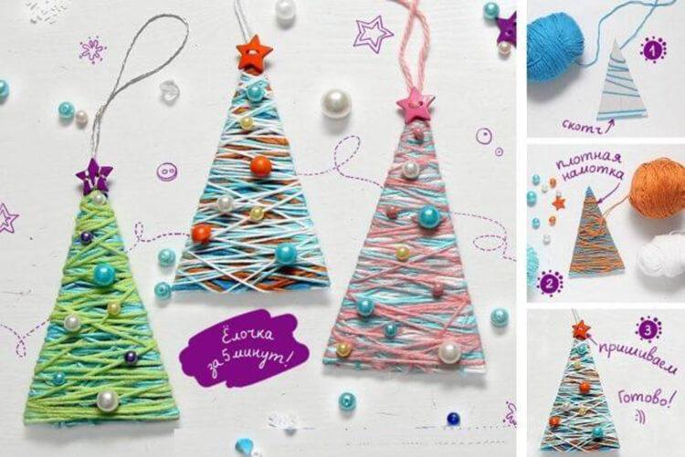 Поделки на Новый год своими руками: делаем на конкурс школу и садик podelki k novomu godu 118