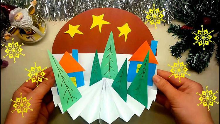 Поделки на Новый год своими руками: делаем на конкурс школу и садик podelki k novomu godu 84