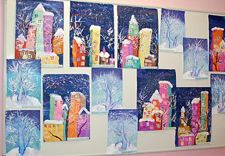 Рисунки на тему зима: что можно нарисовать красками и карандашом risunki na temu zima detskie 1