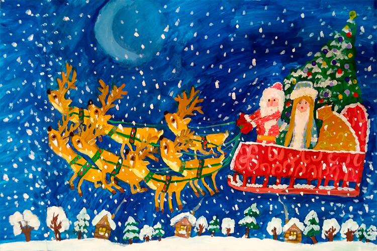 Рисунки на тему зима: что можно нарисовать красками и карандашом risunki na temu zima detskie 101