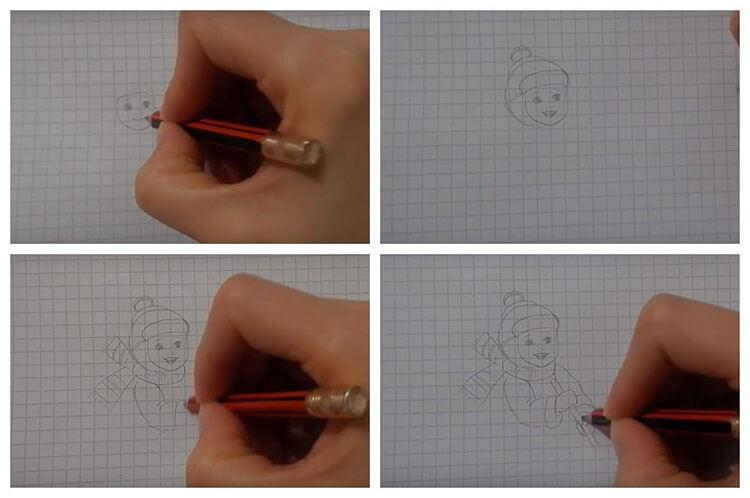 Рисунки на тему зима: что можно нарисовать красками и карандашом risunki na temu zima detskie 108