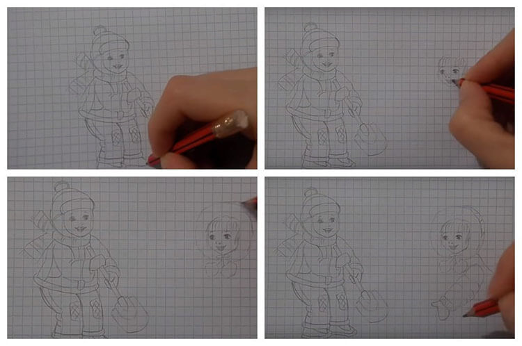 Рисунки на тему зима: что можно нарисовать красками и карандашом risunki na temu zima detskie 109