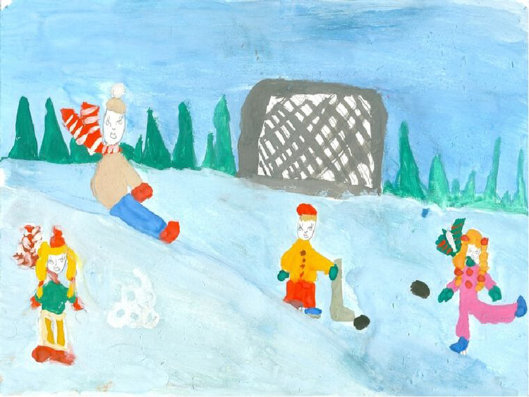 Рисунки на тему зима: что можно нарисовать красками и карандашом risunki na temu zima detskie 11 2