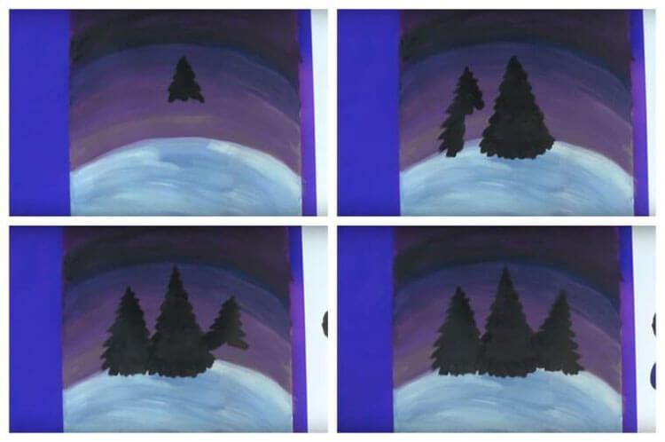 Рисунки на тему зима: что можно нарисовать красками и карандашом risunki na temu zima detskie 116
