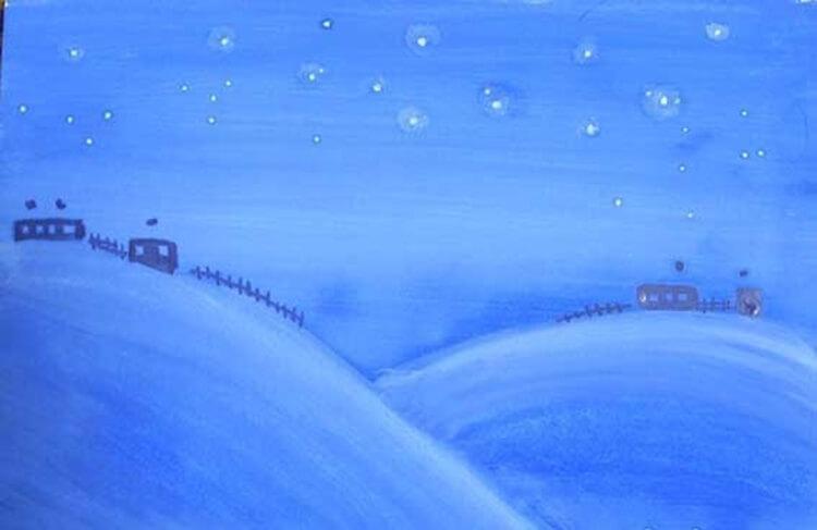 Рисунки на тему зима: что можно нарисовать красками и карандашом risunki na temu zima detskie 14