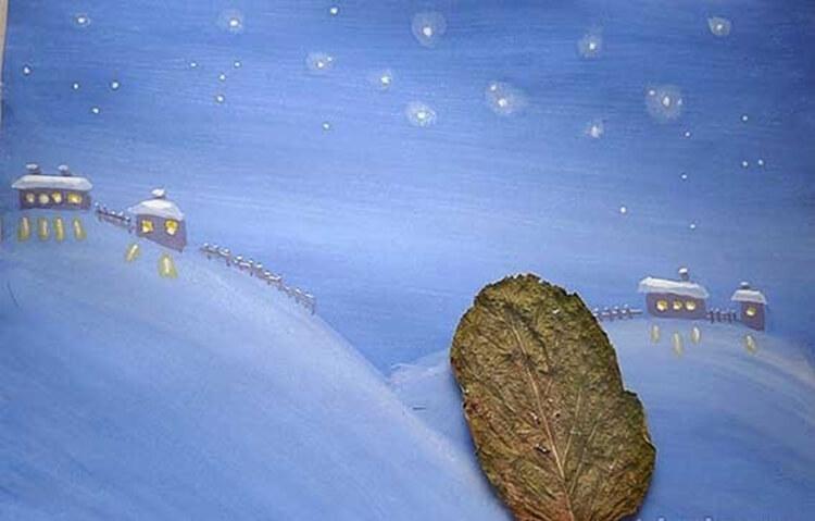 Рисунки на тему зима: что можно нарисовать красками и карандашом risunki na temu zima detskie 15