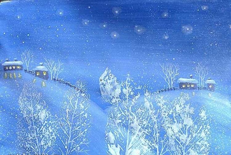 Рисунки на тему зима: что можно нарисовать красками и карандашом risunki na temu zima detskie 16