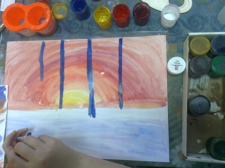 Рисунки на тему зима: что можно нарисовать красками и карандашом risunki na temu zima detskie 19