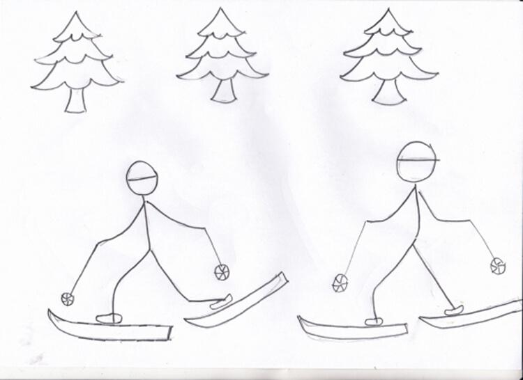 Рисунки на тему зима: что можно нарисовать красками и карандашом risunki na temu zima detskie 30