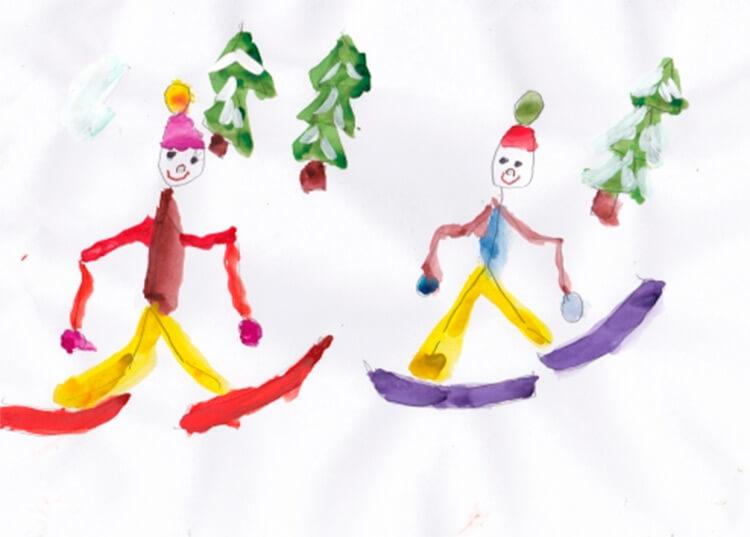 Рисунки на тему зима: что можно нарисовать красками и карандашом risunki na temu zima detskie 31
