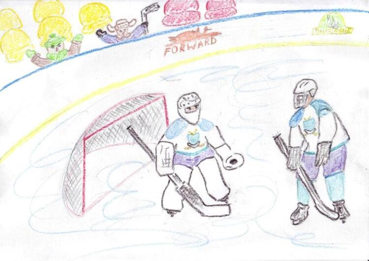 Рисунки на тему зима: что можно нарисовать красками и карандашом risunki na temu zima detskie 34