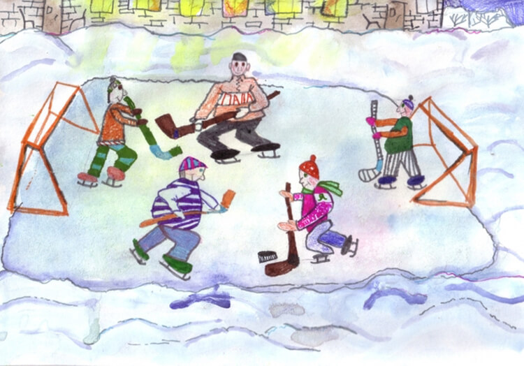 Рисунки на тему зима: что можно нарисовать красками и карандашом risunki na temu zima detskie 35