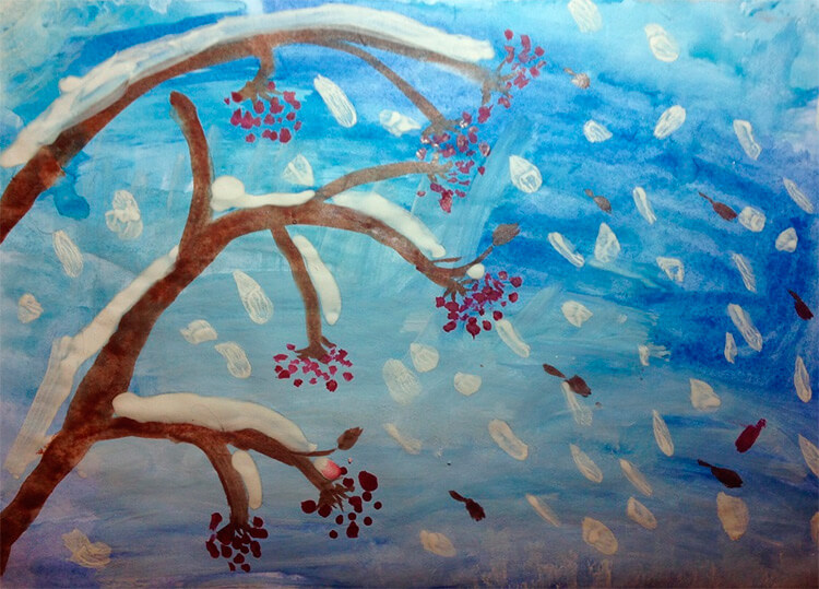 Рисунки на тему зима: что можно нарисовать красками и карандашом risunki na temu zima detskie 4