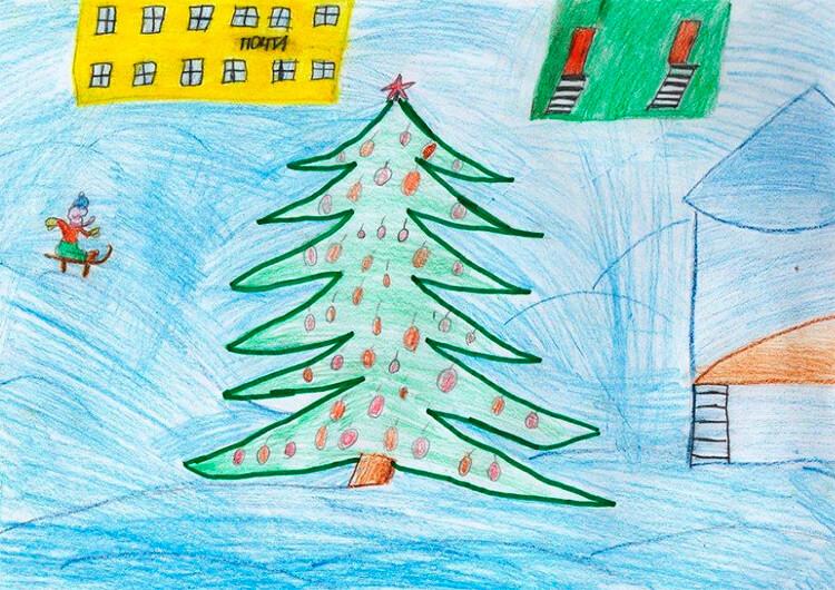 Рисунки на тему зима: что можно нарисовать красками и карандашом risunki na temu zima detskie 5