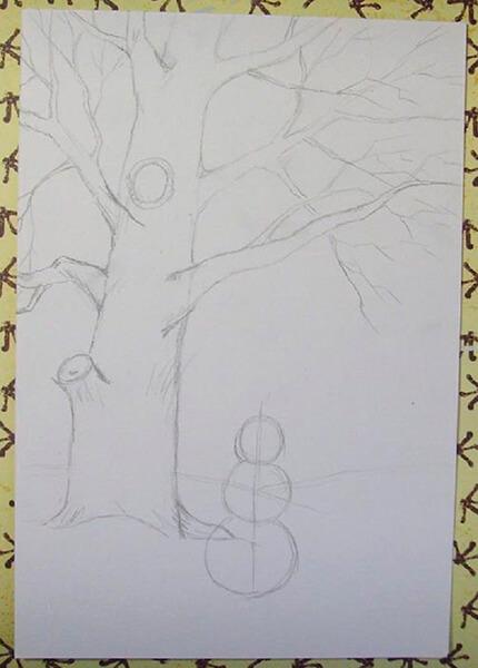 Рисунки на тему зима: что можно нарисовать красками и карандашом risunki na temu zima detskie 57