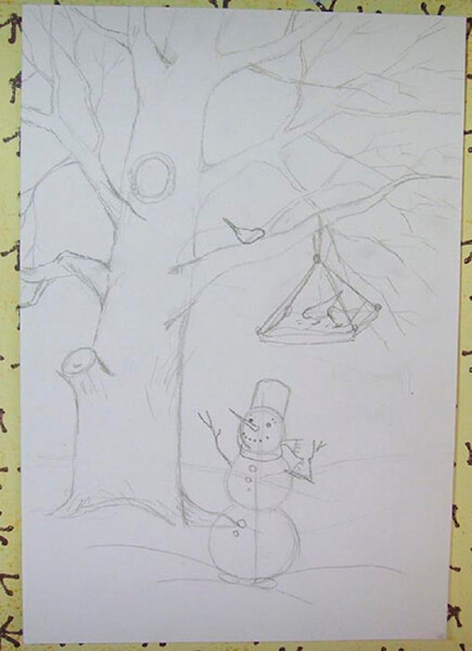 Рисунки на тему зима: что можно нарисовать красками и карандашом risunki na temu zima detskie 59