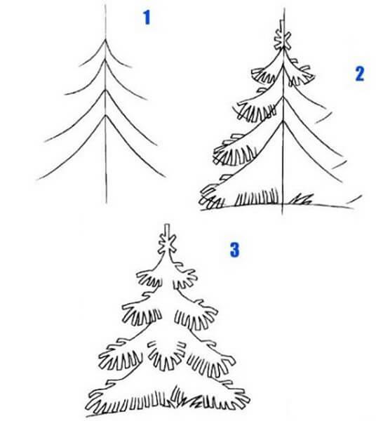 Рисунки на тему зима: что можно нарисовать красками и карандашом risunki na temu zima detskie 73