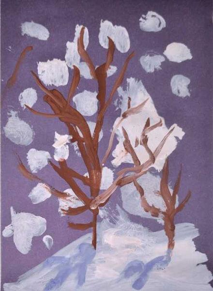 Рисунки на тему зима: что можно нарисовать красками и карандашом risunki na temu zima detskie 81