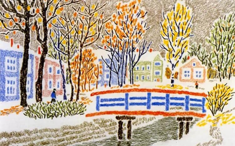 Рисунки на тему зима: что можно нарисовать красками и карандашом risunki na temu zima detskie 87