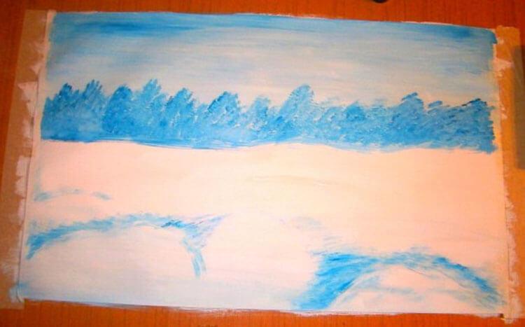 Рисунки на тему зима: что можно нарисовать красками и карандашом risunki na temu zima detskie 99