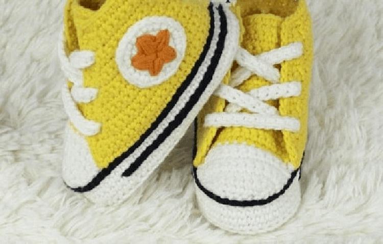 Как связать тапочки кеды крючком для взрослых и детей tapochki kedy kryuchkom 10