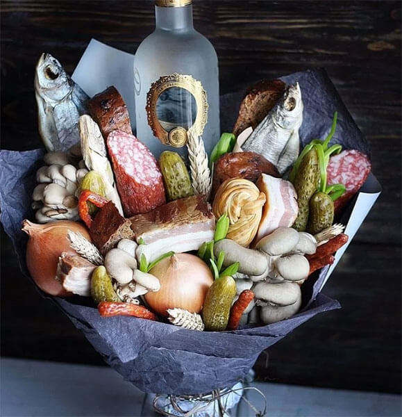 Букет для мужчины на 23 февраля: оригинальный подарок своими руками buket dlya muzhchiny svoimi rukami 110