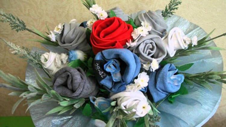 Букет для мужчины на 23 февраля: оригинальный подарок своими руками buket dlya muzhchiny svoimi rukami 17