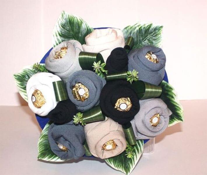 Букет для мужчины на 23 февраля: оригинальный подарок своими руками buket dlya muzhchiny svoimi rukami 19