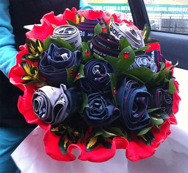 Букет для мужчины на 23 февраля: оригинальный подарок своими руками buket dlya muzhchiny svoimi rukami 20