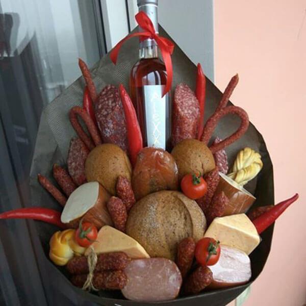 Букет для мужчины на 23 февраля: оригинальный подарок своими руками buket dlya muzhchiny svoimi rukami 67