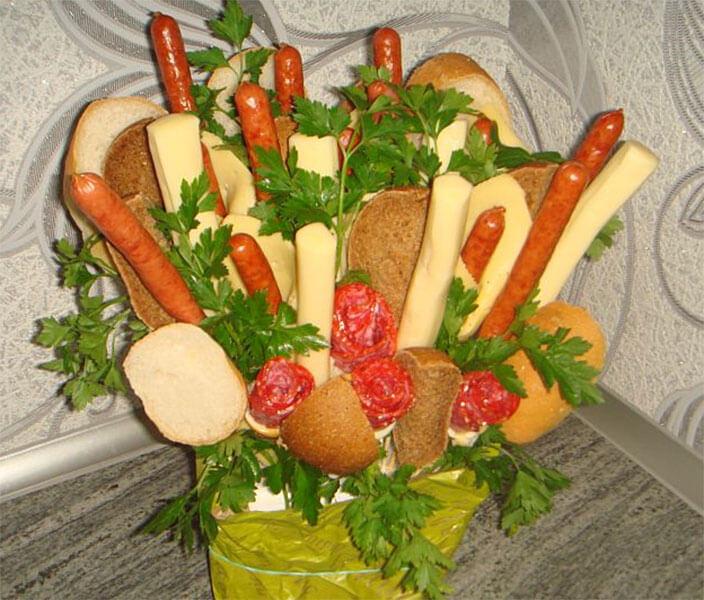 Букет для мужчины на 23 февраля: оригинальный подарок своими руками buket dlya muzhchiny svoimi rukami 91