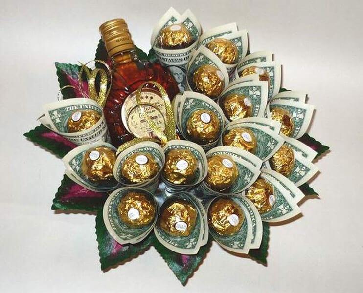 Букет для мужчины на 23 февраля: оригинальный подарок своими руками buket dlya muzhchiny svoimi rukami 94