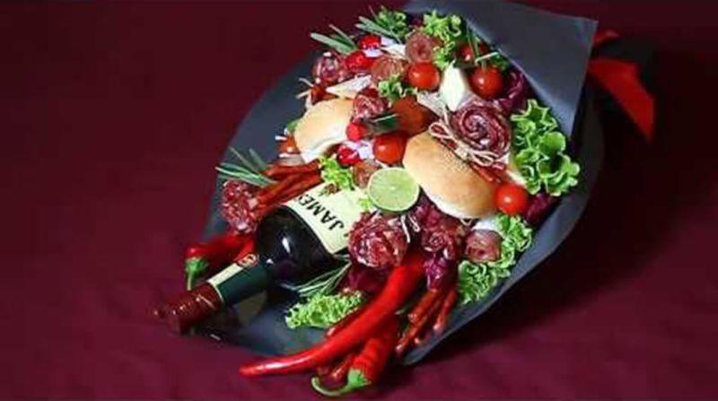 Букет для мужчины на 23 февраля: оригинальный подарок своими руками buket dlya muzhchiny svoimi rukami 99