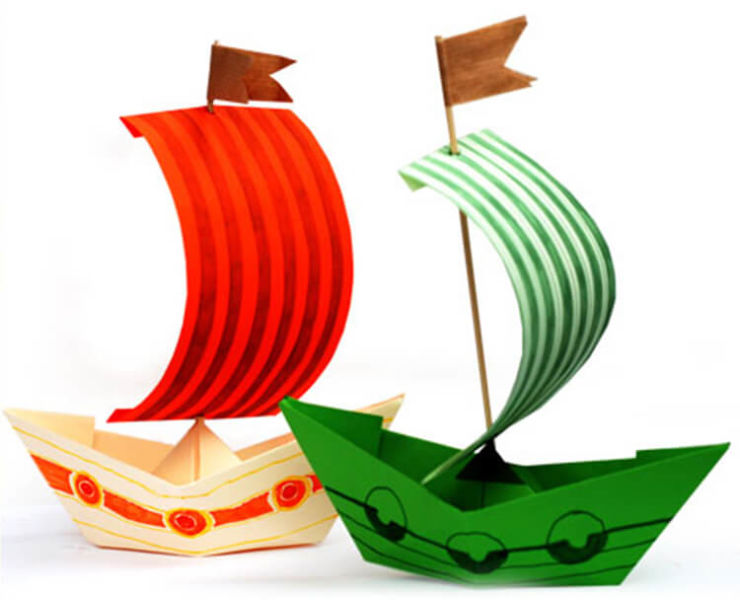 Кораблик для детей: различные способы создания со схемами и описанием korabl svoimi rukami 16