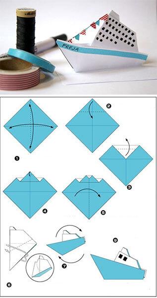 Кораблик для детей: различные способы создания со схемами и описанием korabl svoimi rukami 25