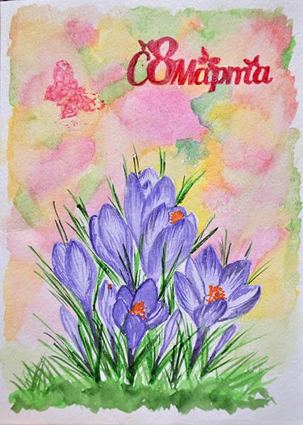 Открытки для любимых мам и бабушек своими руками: мастер классы с фото и описанием otkrytki na 8 marta svoimi rukami 42