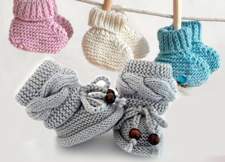 Пинетки для новорожденных малышей спицами: что можно связать для первой обуви малышам pinetki spicami s opisaniem i skhemami 1