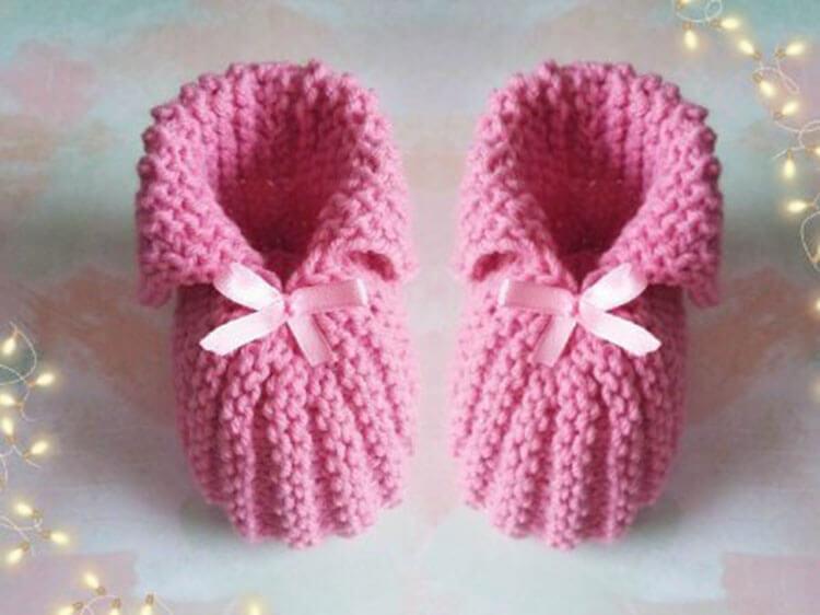 Пинетки для новорожденных малышей спицами: что можно связать для первой обуви малышам pinetki spicami s opisaniem i skhemami 29