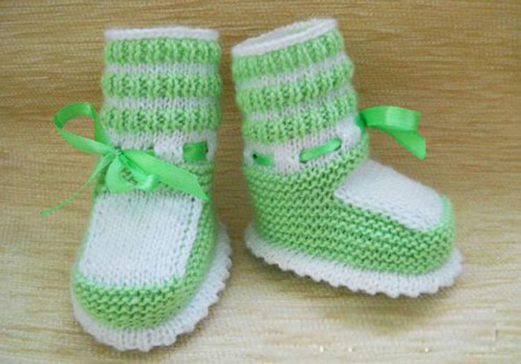 Пинетки для новорожденных малышей спицами: что можно связать для первой обуви малышам pinetki spicami s opisaniem i skhemami 46