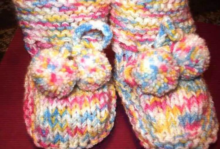 Пинетки для новорожденных малышей спицами: что можно связать для первой обуви малышам pinetki spicami s opisaniem i skhemami 69