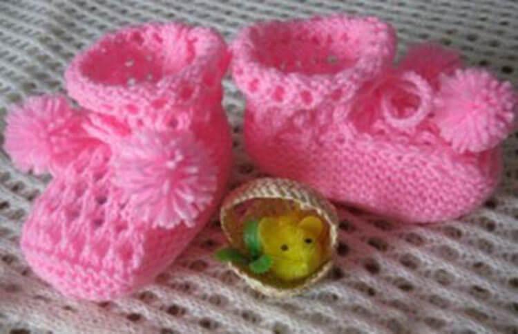 Пинетки для новорожденных малышей спицами: что можно связать для первой обуви малышам pinetki spicami s opisaniem i skhemami 72