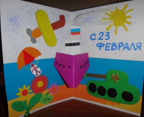 Поделки на 23 февраля: самое интересное для конкурса в школу и садик podelki na 23 fevralya svoimi rukami 126