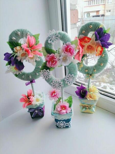 Поделки на 8 марта для любимых мам: подарок с душой своими руками podelku na 8 marta svoimi rukami 110