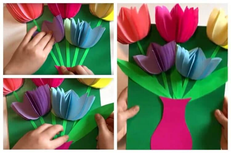 Поделки на 8 марта для любимых мам: подарок с душой своими руками podelku na 8 marta svoimi rukami 23